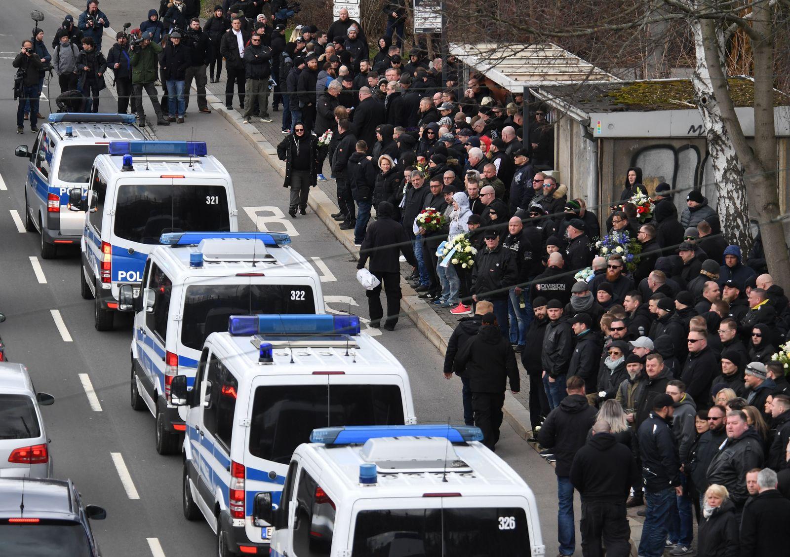 Beerdigung von Fan aus rechter Szene des Chemnitzer FC
