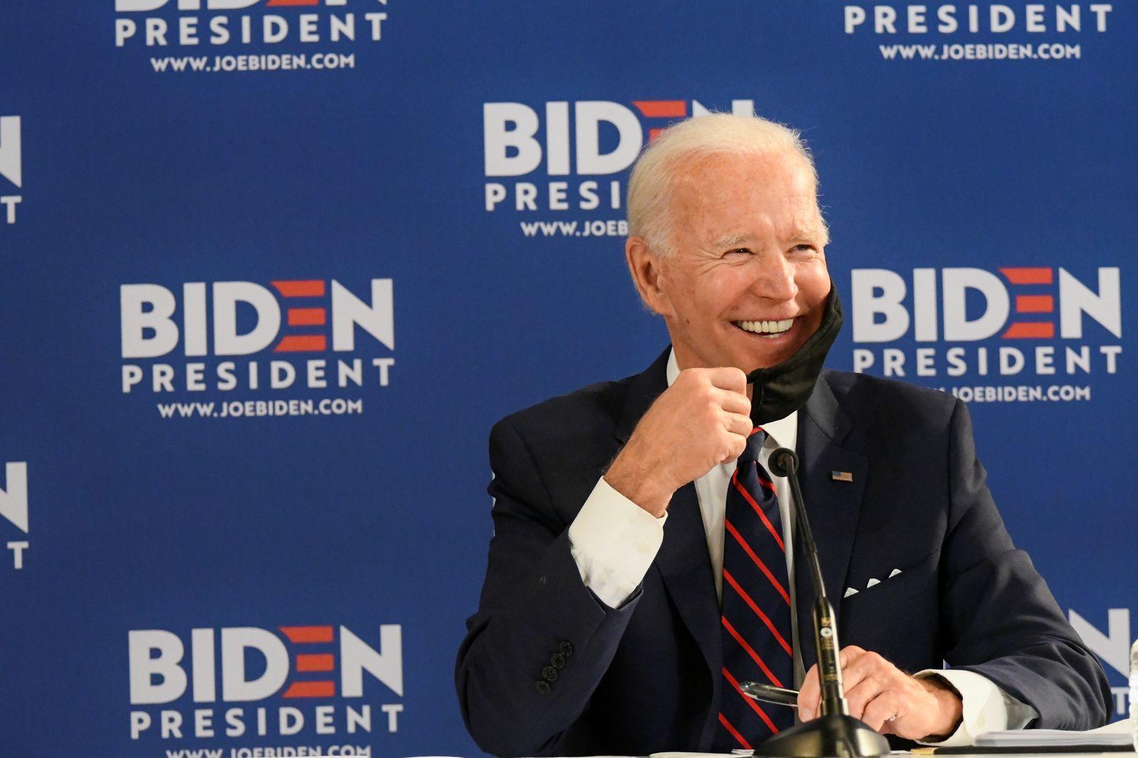 U.S. Democratic presidential candidate Joe Biden speaks during campaign event in Philadelphia
