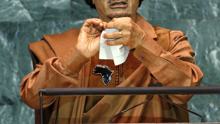 Wutrede: Gaddafi kritisiert den Sicherheitsrat