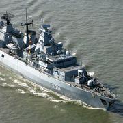 The frigate Mecklenburg-Vorpommern.