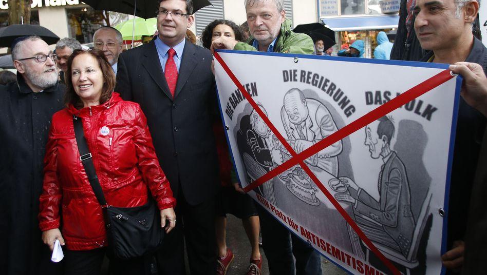 Protest gegen Antisemitismus in Wien mit Deutsch (2012)