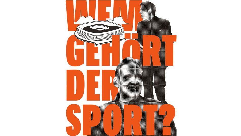Bayern-Jurist, Michael Gerlinger, (r.), Dortmund-Geschäftsführer Hans-Joachim Watzke