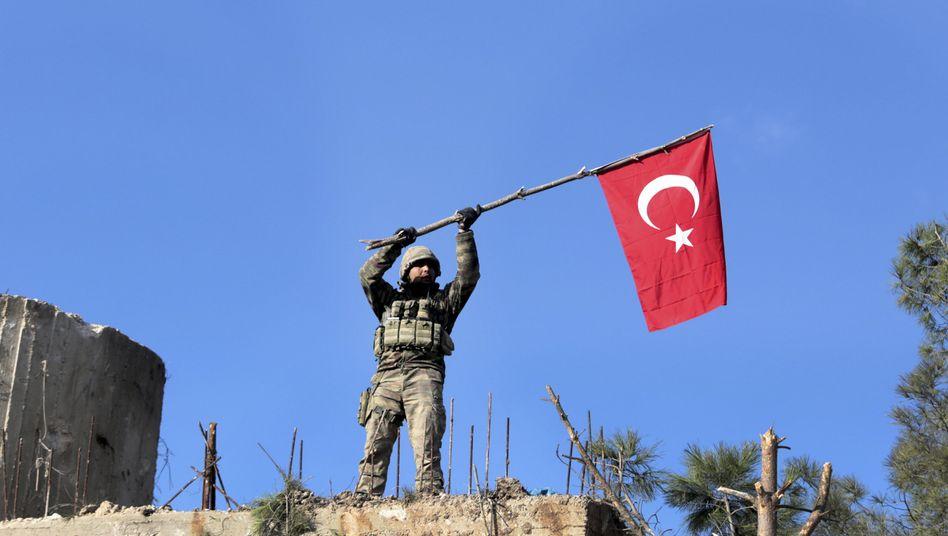 Türkischer Soldat in Syrien
