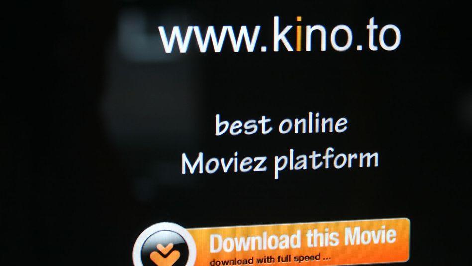 Screenshot von kino.to: Integrierte Ermittlungseinheit Sachsen jagt Raubkopierer