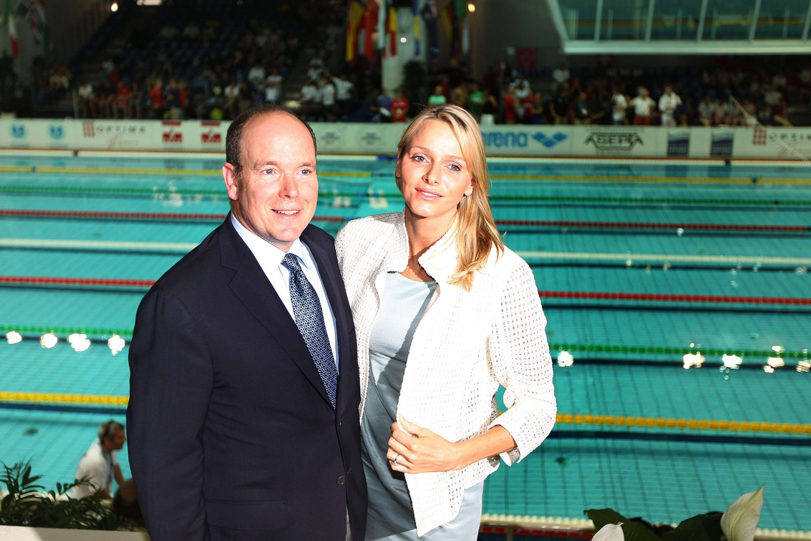 MONACO-SWIMMING-ALBERT II-CHARLENE