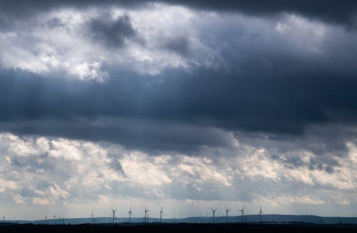Dunkle Wolken zogen über Deutschland hinweg