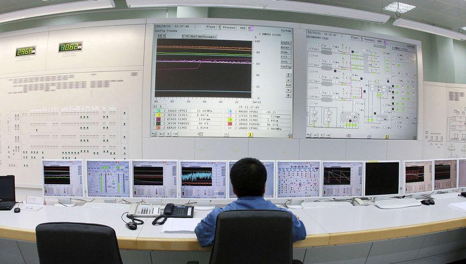Kontrollraum im AKW Tianwan: China baut 28 weitere Reaktoren