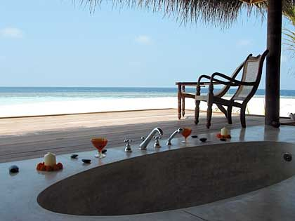 Kandholhudhoo: Spa mit Meeresblick