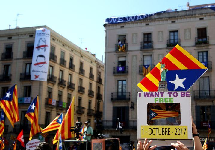 Demo für Kataloniens Unabhängigkeit in Barcelona