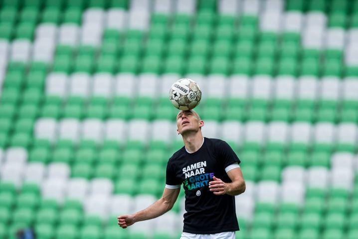 Arjen Robben im Training beim FC Groningen