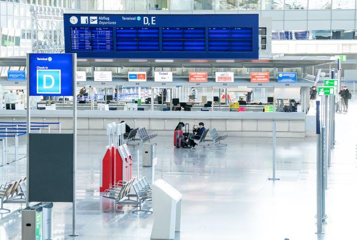 Am Terminal 2 des Frankfurter Flughafens war am Mittwoch kaum Betrieb