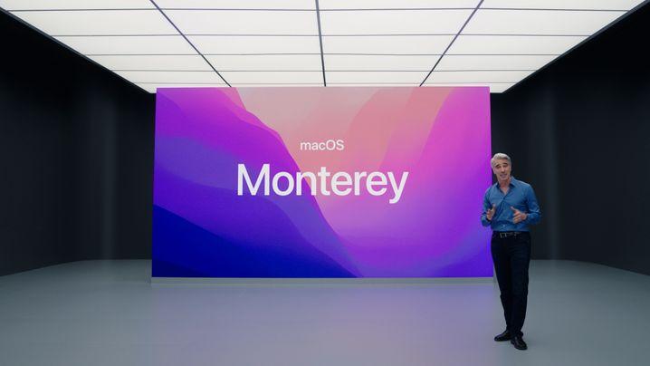 Tangkapan layar dari presentasi video Apple: Manajer Federighi mengungkapkan nama macOS baru