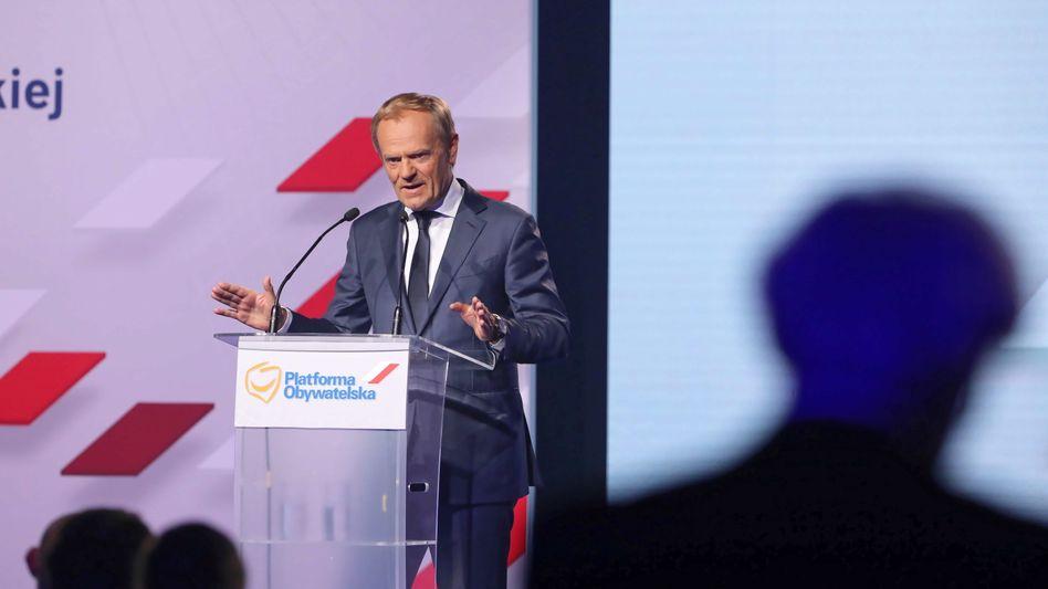 Wahlkämpfer Donald Tusk: »Ich bin wieder da«