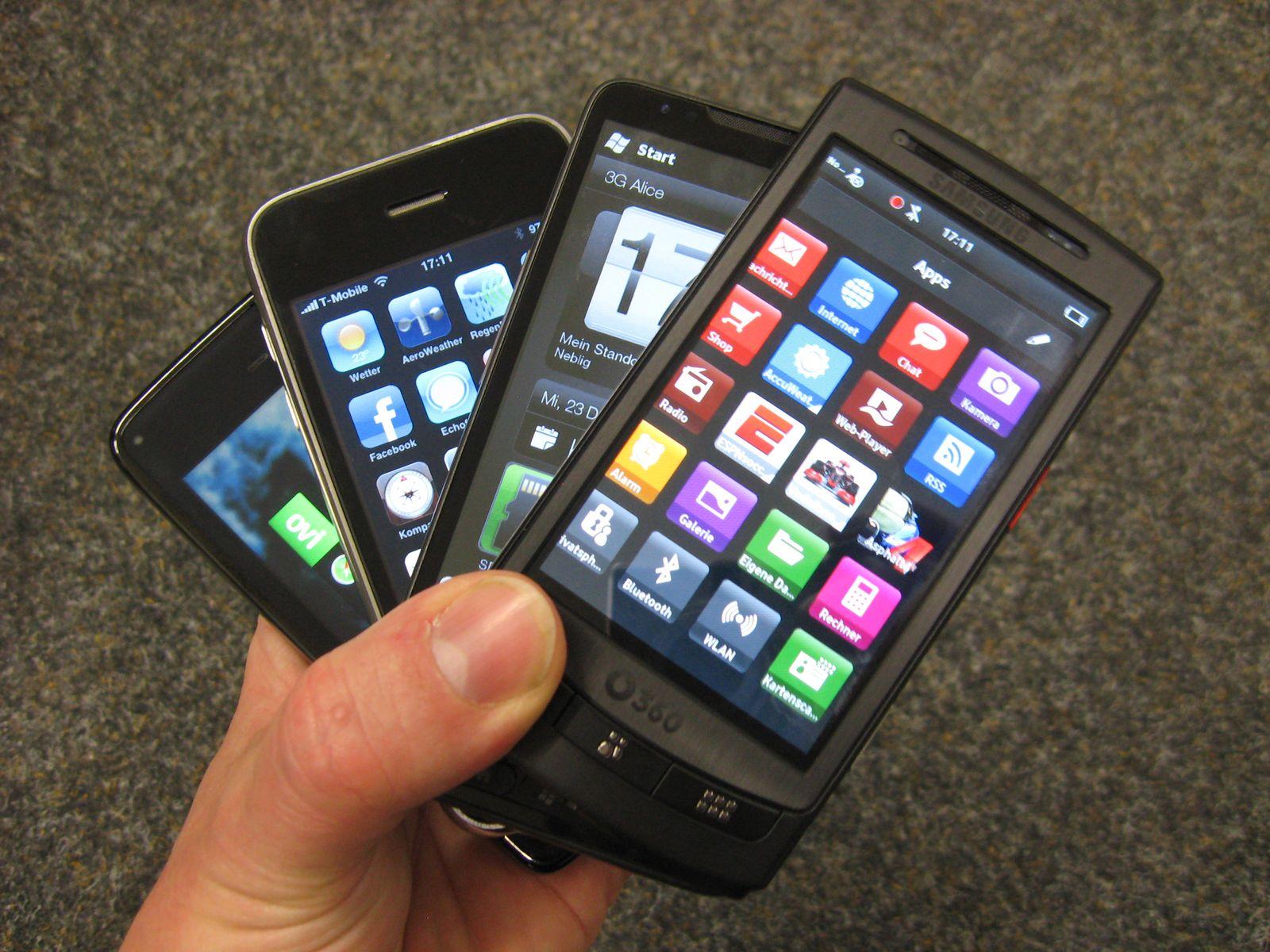 Handys / Smartphones / Verschiedene Hersteller