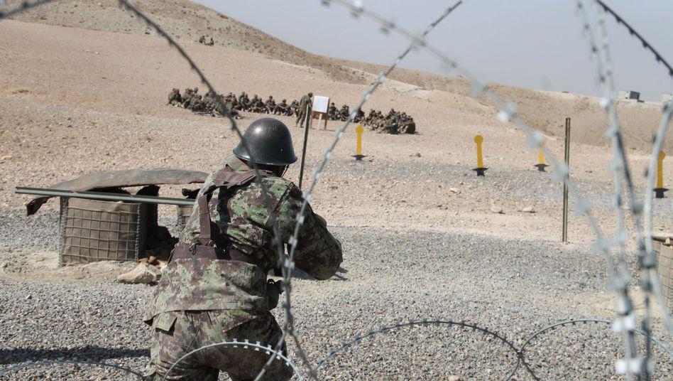Afghanischer Rekrut in Kabul (Archivbild)
