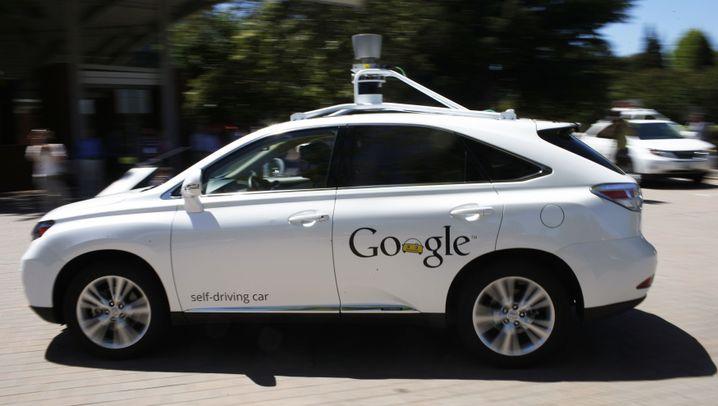 Testfahrt im Google-Auto: Unterwegs mit Autopilot