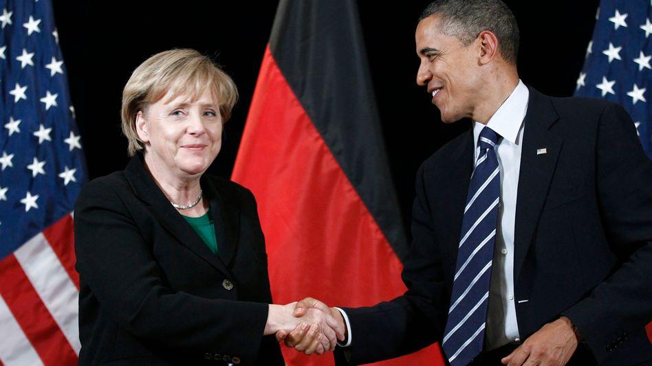 Merkel und Obama (beim G-20-Treffen 2010 in Seoul): Wiedersehen in Washington.