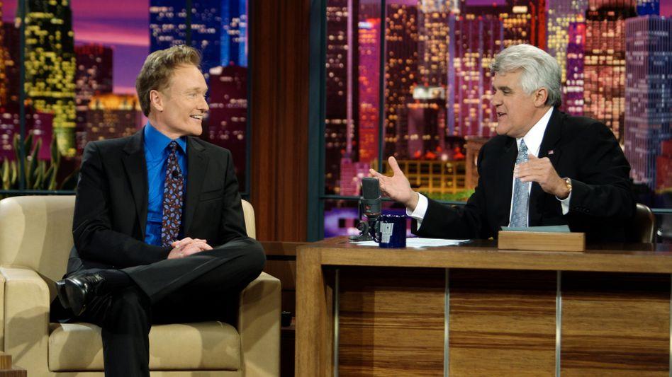 Talker Conan O'Brien, Jay Leno (hier 2009): Sendeplatz-Gerangel bei NBC