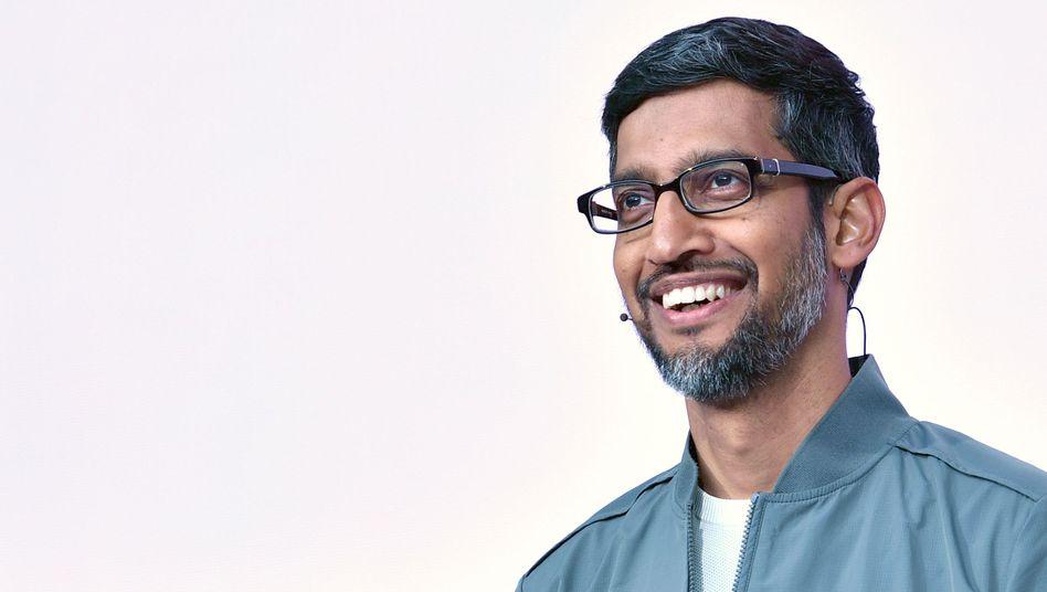 Sundar Pichai bei einer Keynote auf der Google Entwicklerkonferenz i  o in Kalifornien