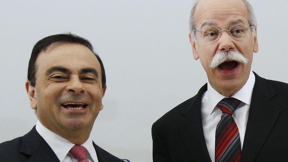 Daimler-Chef Zetsche (rechts), Renault-Boss Ghosn: Nicht die schlechteste Wahl