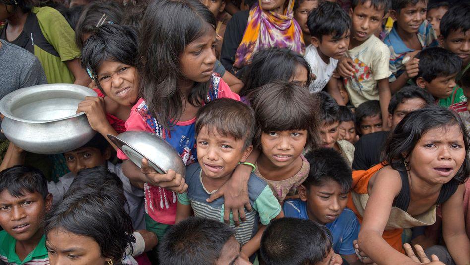 Rohingya-Kinder in Bangladesch