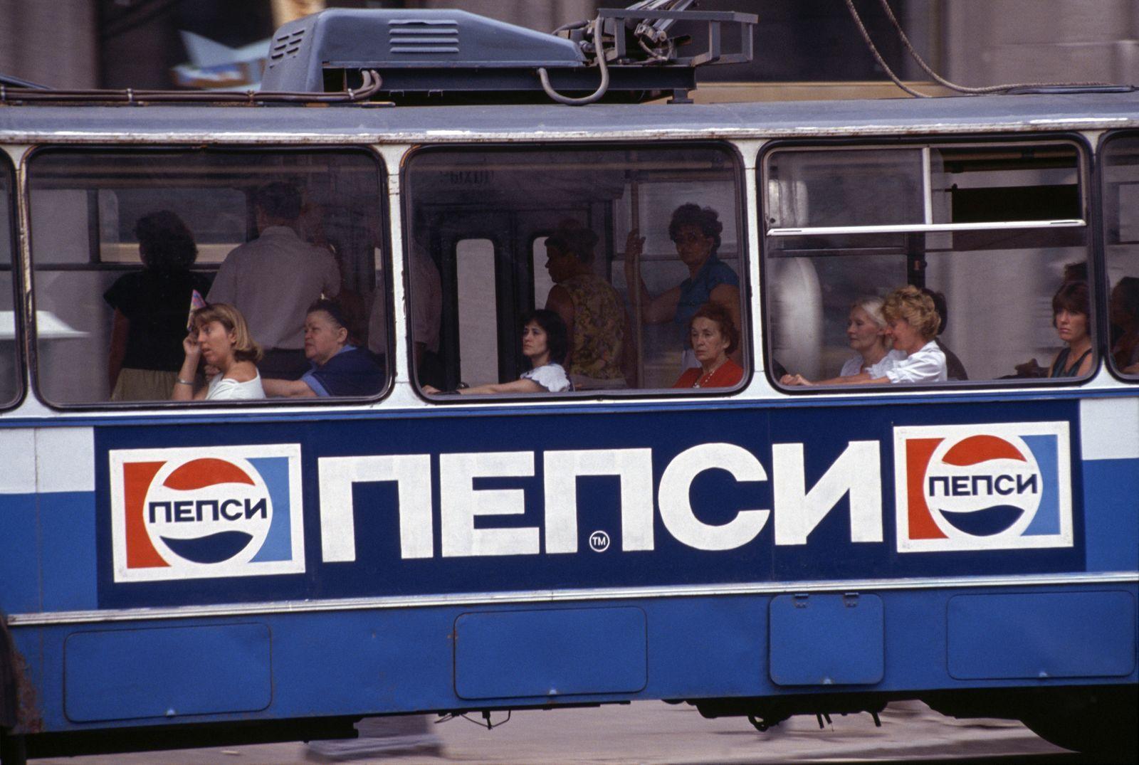 """Pepsi Kriegsflotte - Publicité pour les sodas """"Pepsi"""" à Moscou"""