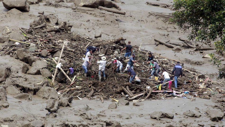 Kolumbien: Schlammlawinereißt mehr als 50 Menschen in den Tod