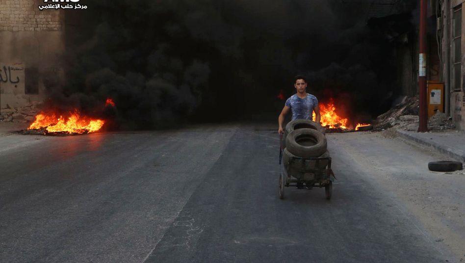 Syrischer Junge in Aleppo
