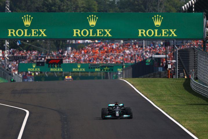 So, als wäre Lewis Hamilton ganz alleine unterwegs