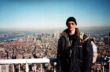 """""""Tourist Guy"""": Das Original-Foto vom World Trade Center, in das der Ungar später ein Flugzeug montierte"""