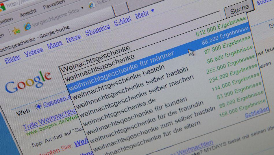 Google-Suche (Archivbild): Mit Abstand Marktführer in Deutschland