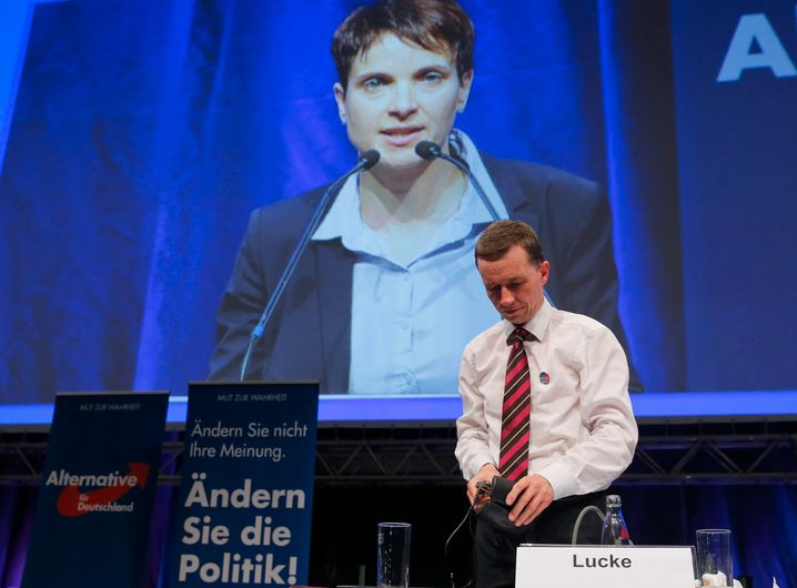 AfD-Mitgründer Bernd Lucke 2015 nach der Niederlage gegen Frauke Petry: Beide schon lange nicht mehr in der AfD