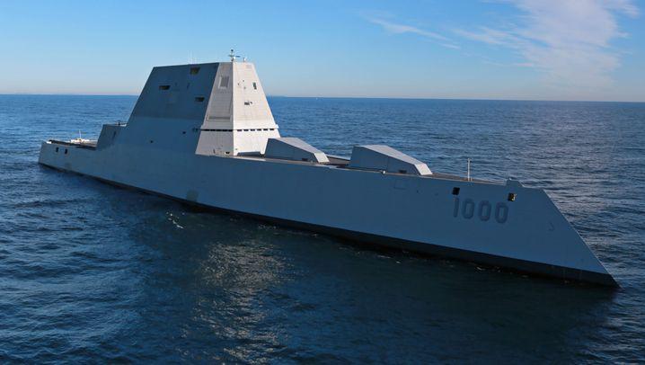 """USS """"Zumwalt"""": Riesen-Zerstörer auf Jungfernfahrt"""