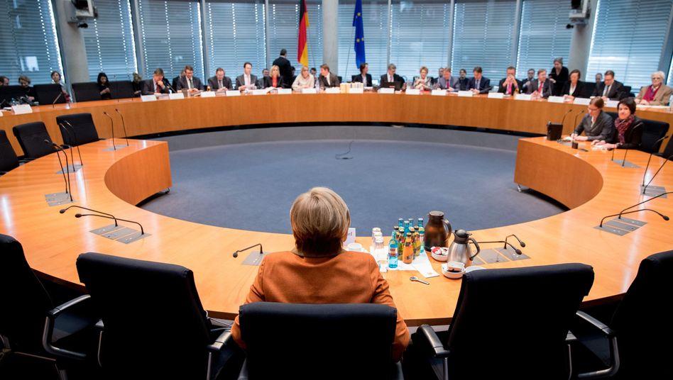 Bundeskanzlerin Angela Merkel vor dem NSA-Untersuchungsausschuss
