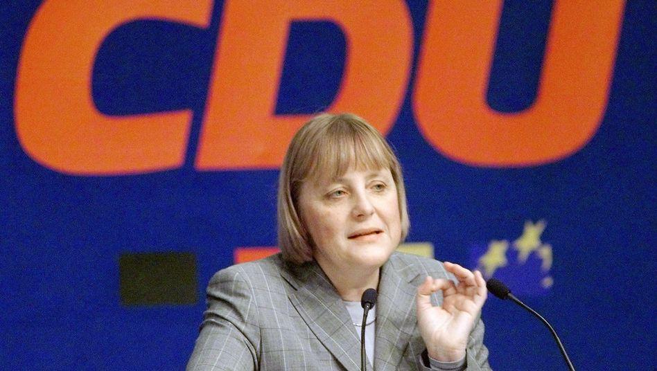 Parteitag am 20.11.2000 in Stuttgart: Angela Merkel, Bundesvorsitzende der CDU