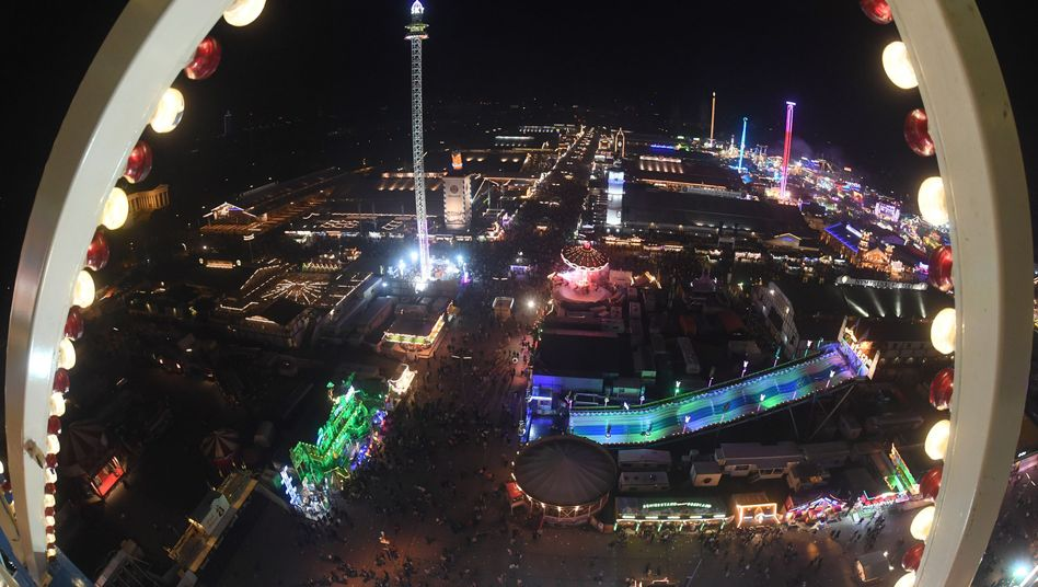 Oktoberfest-Luftaufnahme