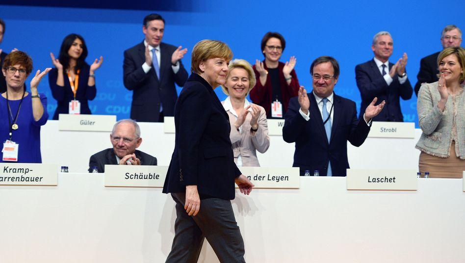 Merkel auf Parteitag: Kaum Widerstand gegen ihren Kurs
