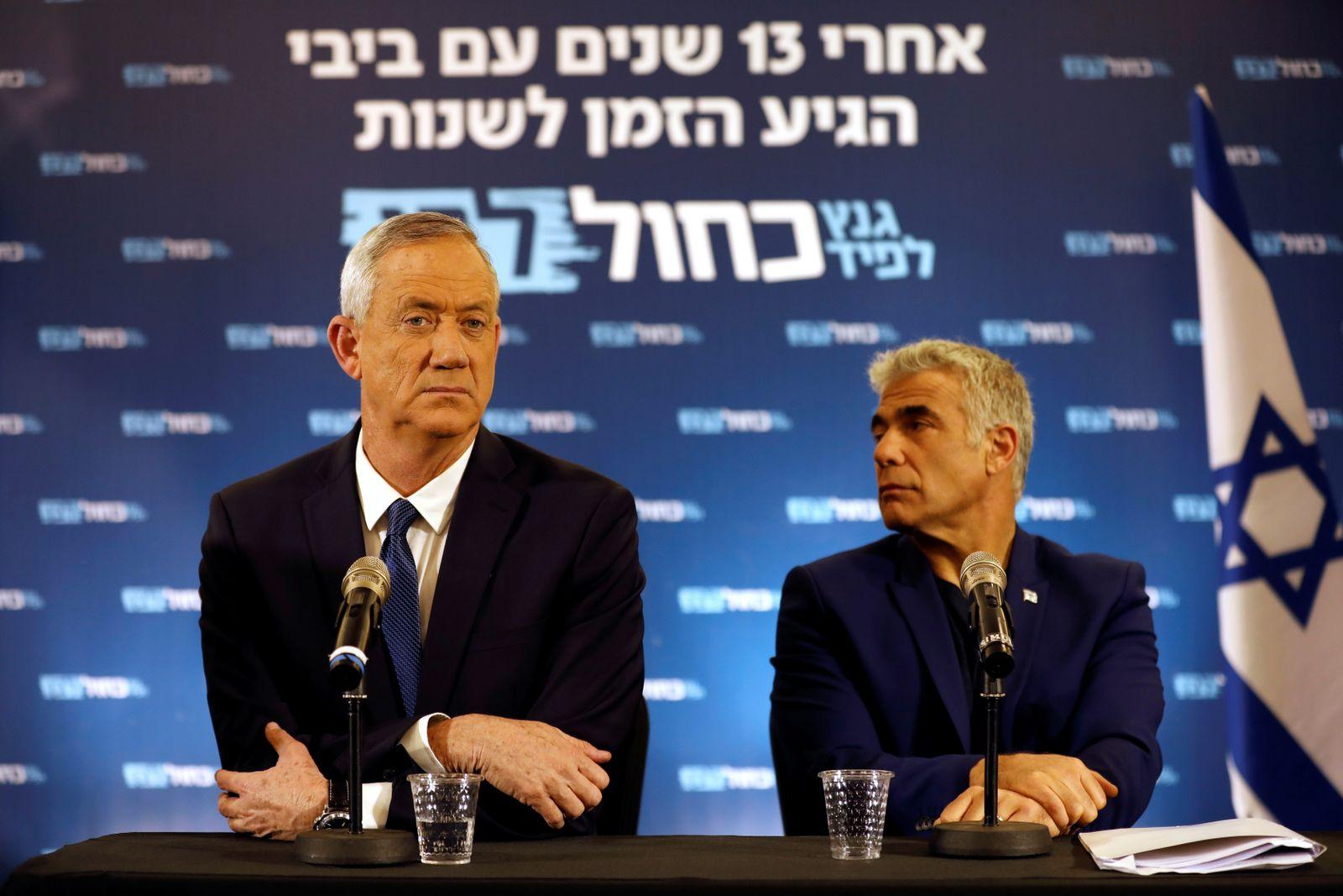 Israel Wahl/ Benny Gantz und Yair Lapid