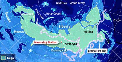 Map: Siberia's Taiga