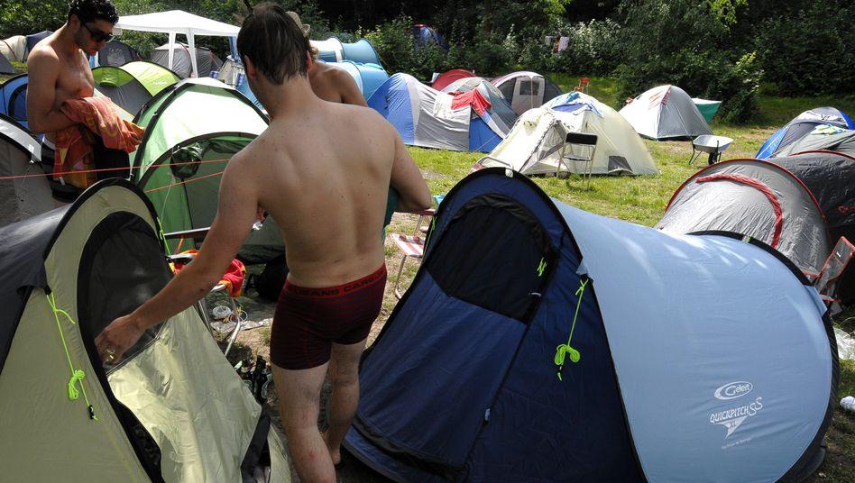 Campingurlauber in Berlin: In Deutschland sind die Kosten vergleichsweise gering