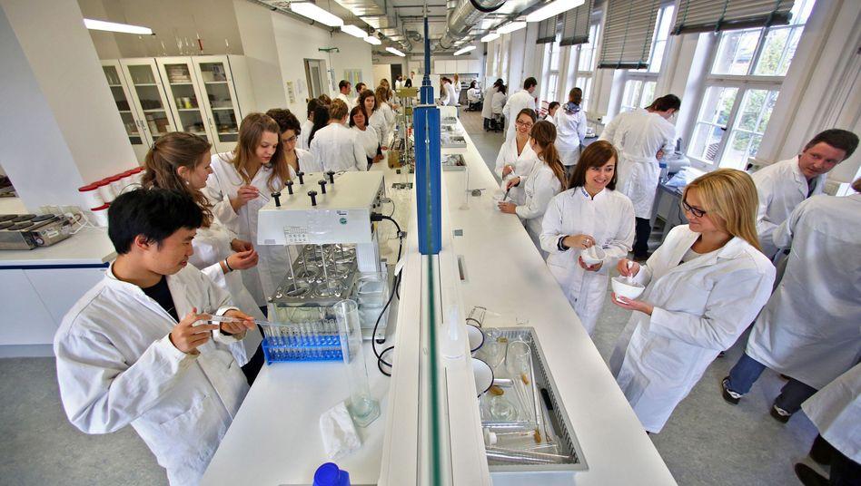 Pharmaziestudenten im Praktikum