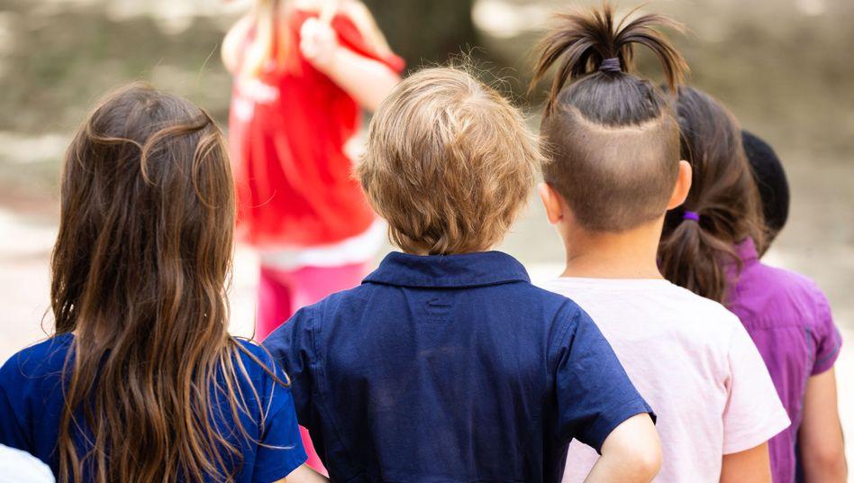 Kindergartenkinder in Berlin-Neukölln