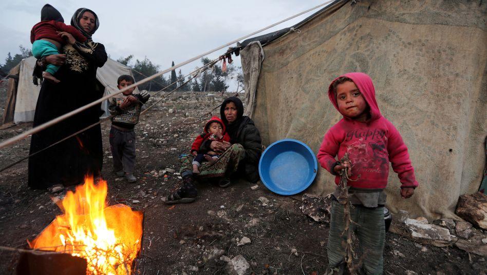 Syrische Flüchtlingskinder (Aufnahme aus dem Februar 2020)