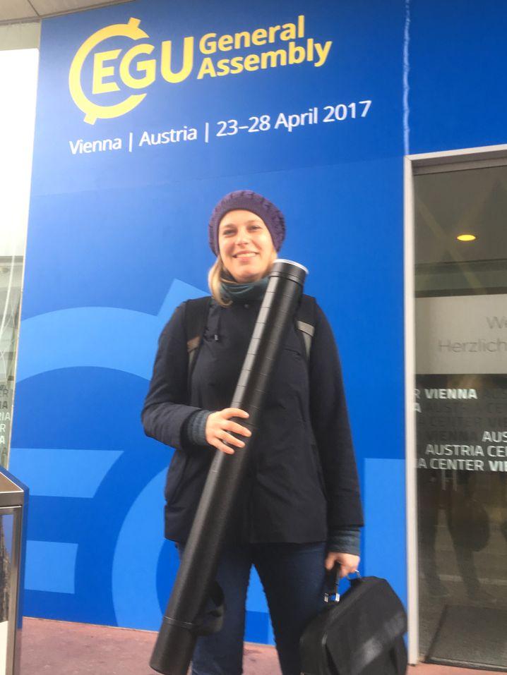 Geoforscherin Julia Meister auf der EGU-Tagung