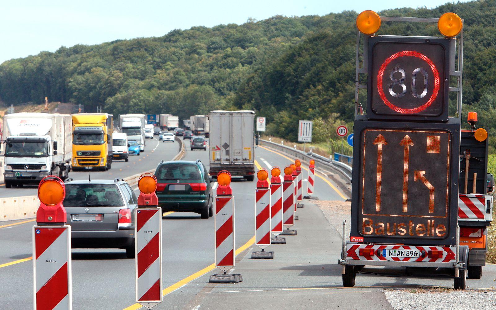 Baustelle / Autobahn