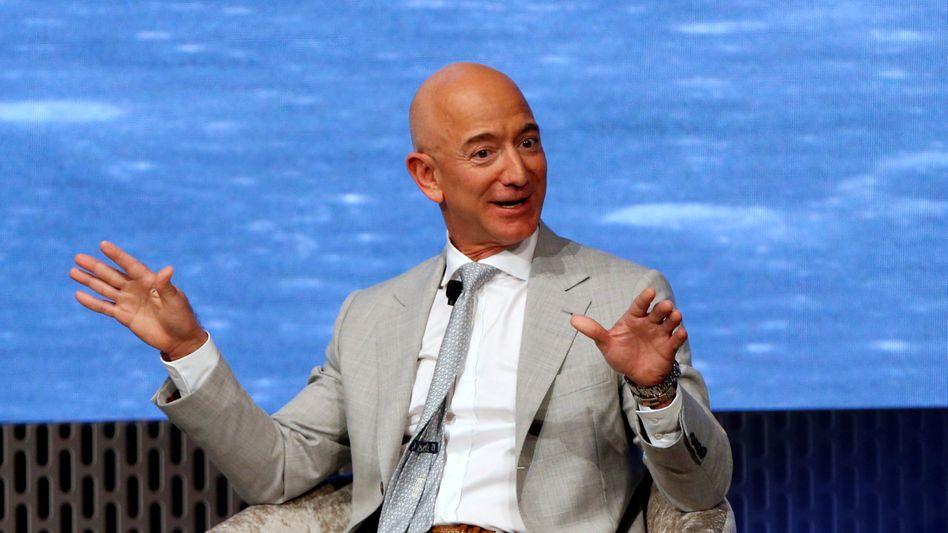 Amazon-Gründer Jeff Bezos: Allen Grund zu bester Laune?