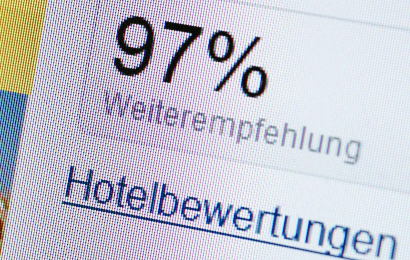 EINMALIGE VERWENDUNG Hotelbewertungen / TMN