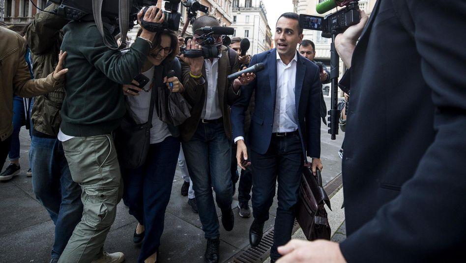 Luigi Di Maio, head of Italy's Five Star Movement