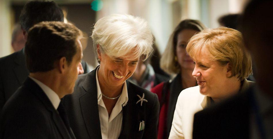 """Christine Lagarde mit Merkel und Sarkozy: """"Ein wichtiger Schritt"""""""