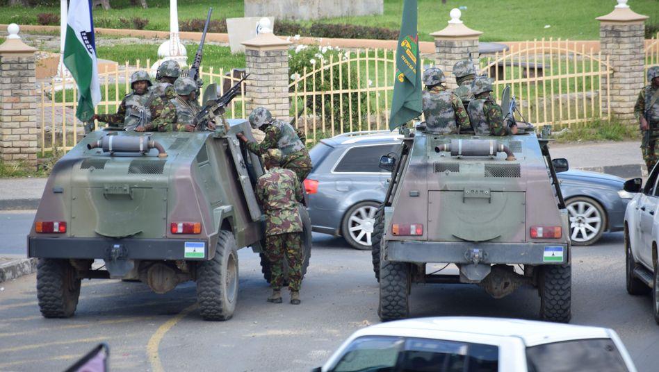 Militär in Maseru